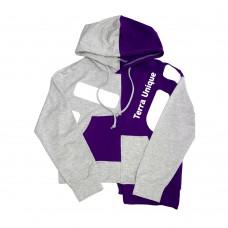 Пайта тонкая серая с фиолетовым